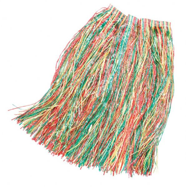Hawaiian Grass Skirt Budget Hawaii Tropical Beach Magnum Five O Fancy Dress